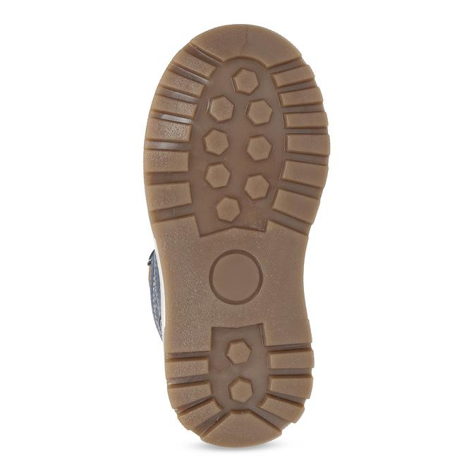 Detské modré kožené zimné topánky mini-b, modrá, 294-9601 - 18