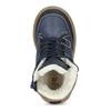Detské modré kožené zimné topánky mini-b, modrá, 294-9601 - 17