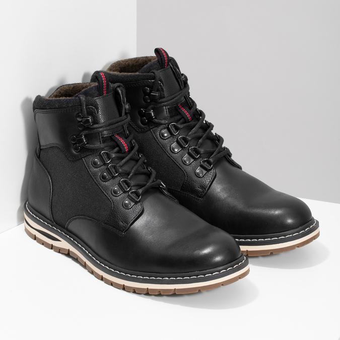 Bata Red Label Čierna pánska členková zimná obuv - Všetky topánky ... a9e84016109
