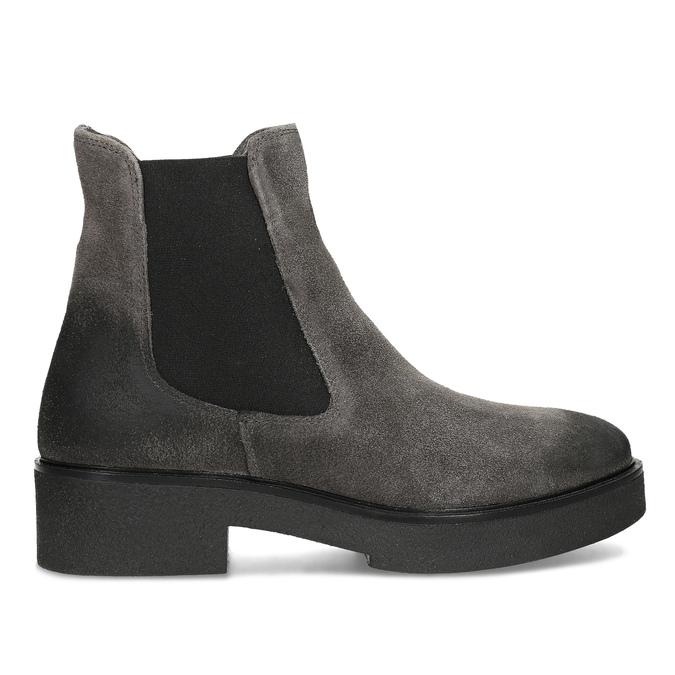 Šedá dámska kožená Chelsea obuv bata, šedá, 593-2617 - 19