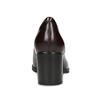 Vínové kožené mokasíny na podpätku clarks, červená, 726-5070 - 15