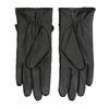 Dámske kožené rukavice prešívané bata, čierna, 904-6139 - 16