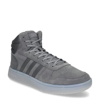 Pánske členkové tenisky kožené šedé adidas, šedá, 803-2118 - 13