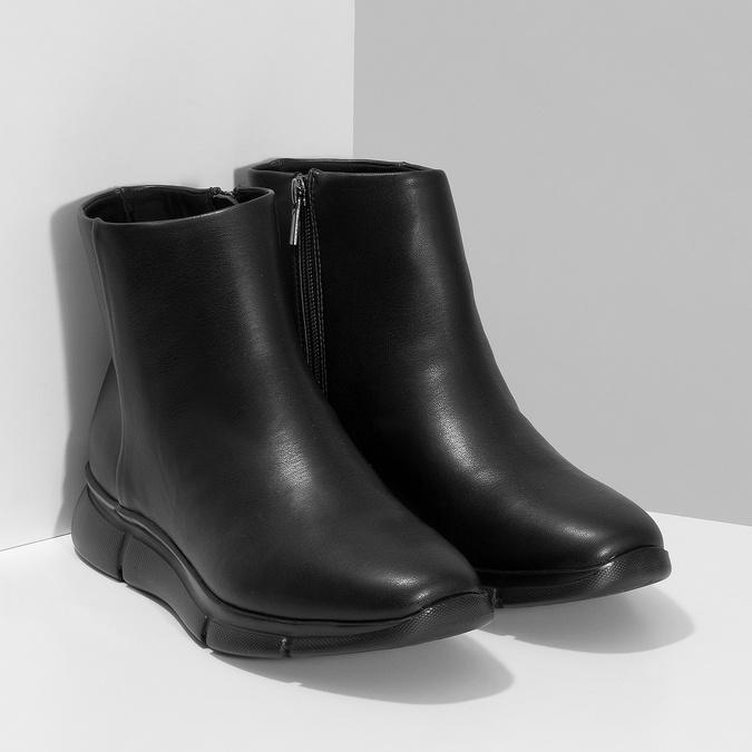 Dámska čierna členková obuv hladká bata-b-flex, čierna, 591-6636 - 26