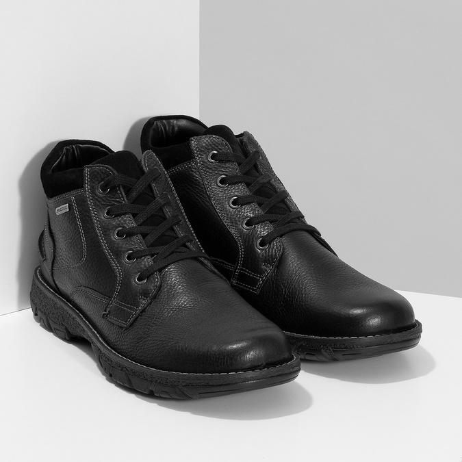 Pánske kožené zimné topánky bata, čierna, 894-6715 - 26