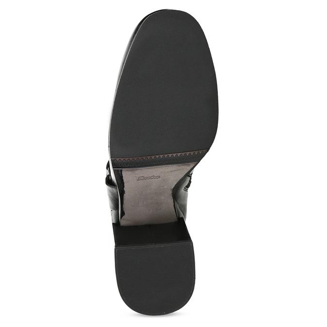 Kožená členková obuv na vysokom podpätku bata, čierna, 796-6661 - 18