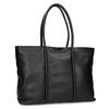 Čierna kožená kabelka bata, čierna, 964-6604 - 13