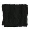 Pletený čierny šál bata, čierna, 909-6699 - 13
