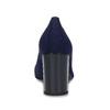 Dámske modré lodičky s lesklým podpätkom bata-b-flex, modrá, 729-9614 - 15