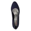 Dámske modré lodičky s lesklým podpätkom bata-b-flex, modrá, 729-9614 - 17