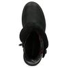 Dámska kožená zimná obuv s prešitím weinbrenner, čierna, 596-6751 - 17