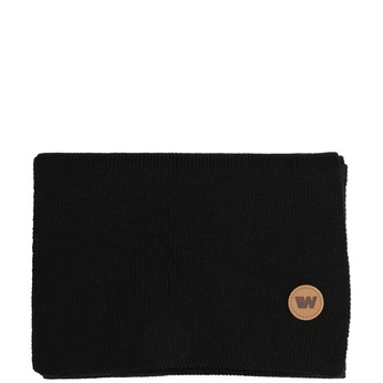 Čierny šál s hnedým detailom weinbrenner, čierna, 909-6729 - 13