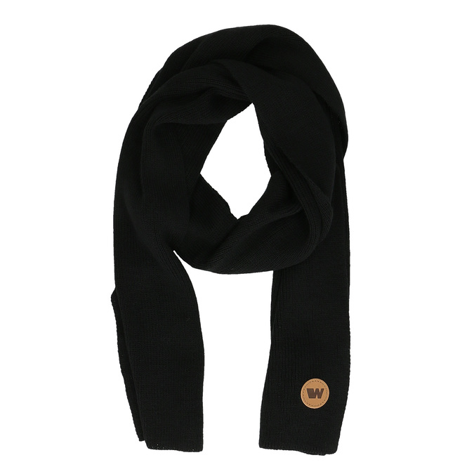 Čierny šál s hnedým detailom weinbrenner, čierna, 909-6729 - 26