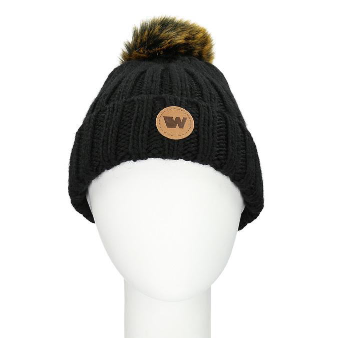 Čierna dámska čapica s bambuľkou weinbrenner, čierna, 909-6726 - 26