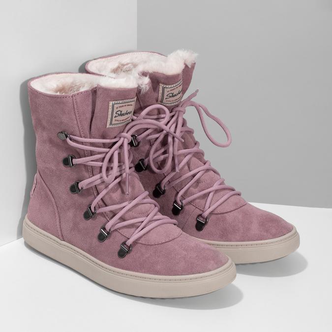 Dámska ružová zimná obuv so zateplením skechers, ružová, 503-5132 - 26