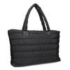 Dámská čierna kabelka s prešitím bata, čierna, 969-6810 - 13