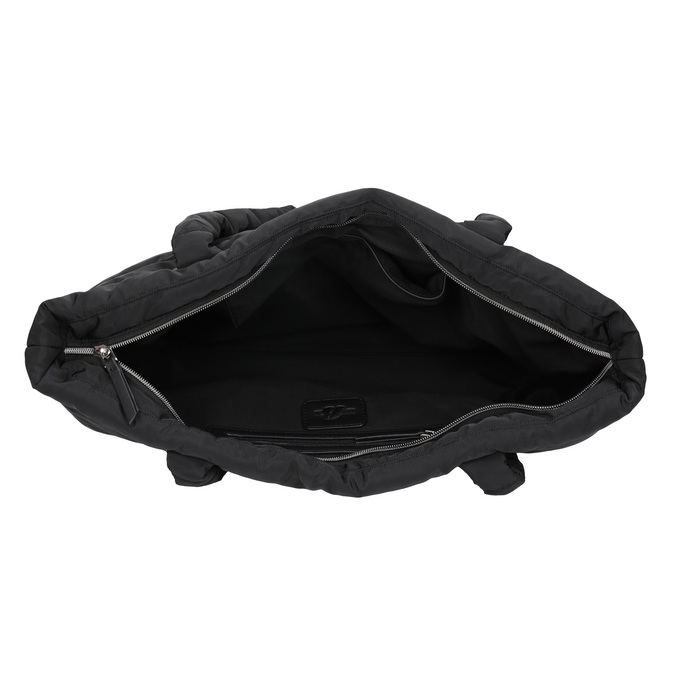 Dámská čierna kabelka s prešitím bata, čierna, 969-6810 - 15