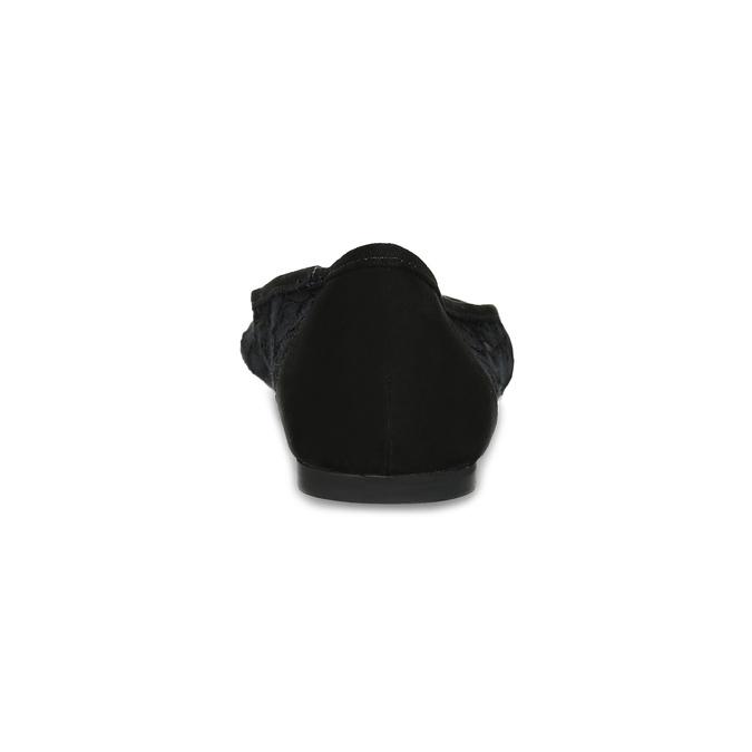 Čierne čipkované baleríny do špičky bata-red-label, čierna, 529-6643 - 15