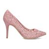 Ružové čipkované lodičky do špičky bata-red-label, ružová, 729-8631 - 19
