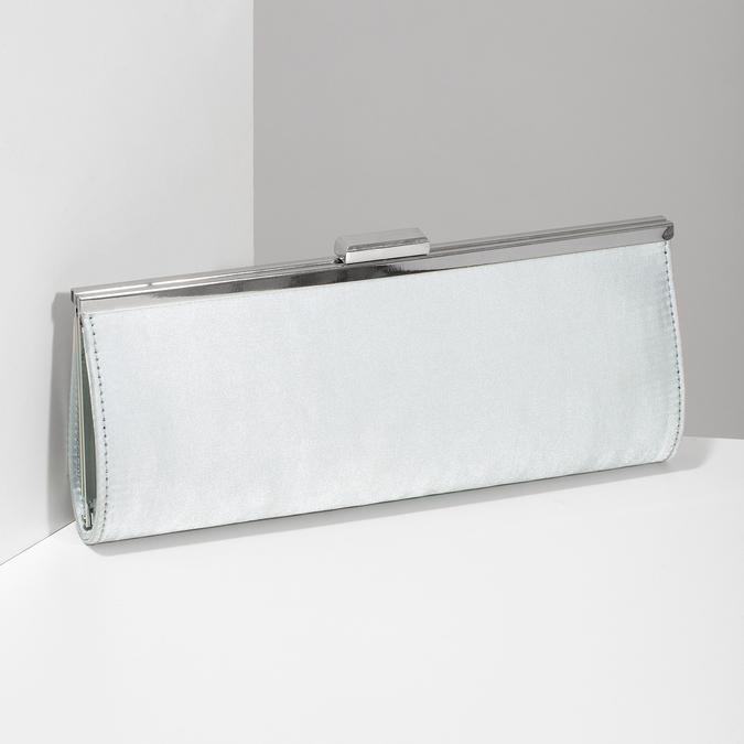 Elegantná dámska listová kabelka s retiazkou bata, strieborná, 969-1811 - 17
