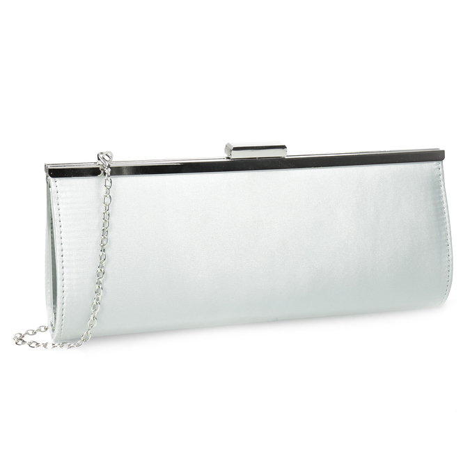 Elegantná dámska listová kabelka s retiazkou bata, strieborná, 969-1811 - 13