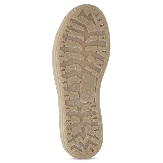Kožená členková zimná obuv s kožúškom weinbrenner, béžová, 596-8730 - 18