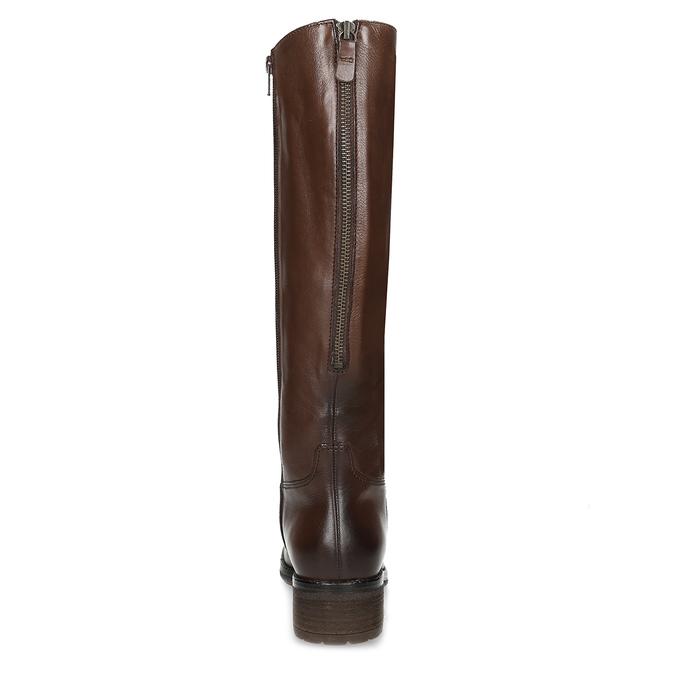 Kožené dámske hnedé čižmy gabor, hnedá, 696-3183 - 15