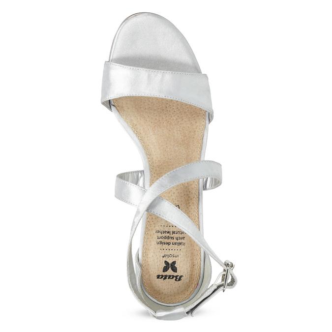 Strieborné sandále na ihličkovom podpätku insolia, strieborná, 729-1633 - 17