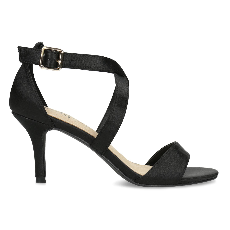 9929613d4 ... Čierne sandále na ihličkovom podpätku insolia, čierna, 729-6633 - 19 ...