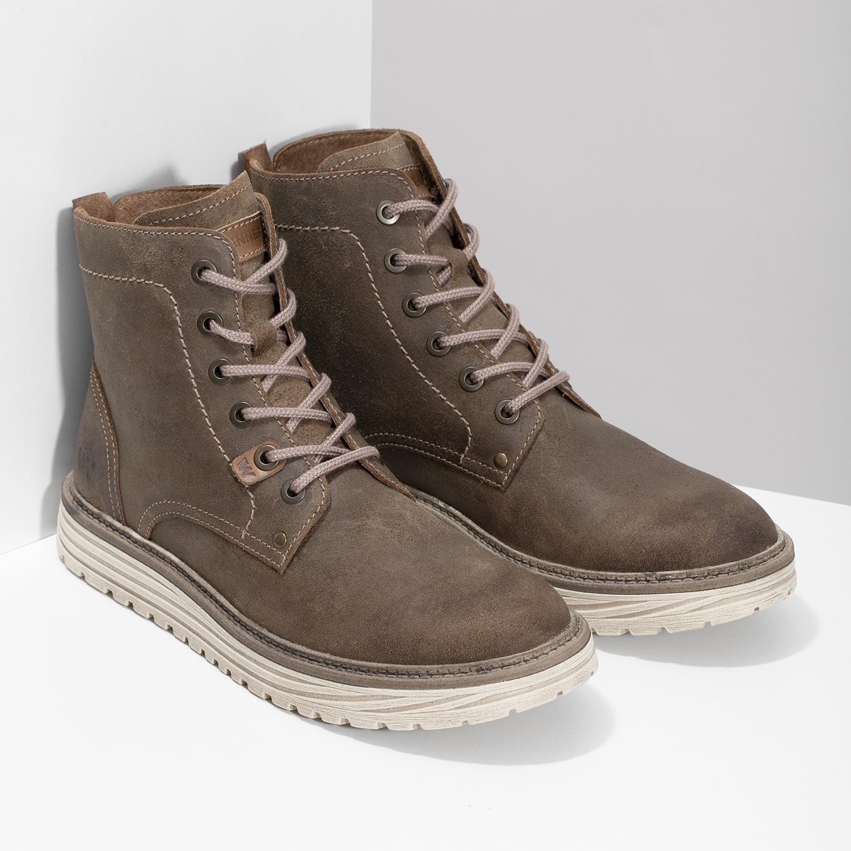 8ef88222c25c Weinbrenner Pánska členková obuv z brúsenej kože - Všetky topánky ...