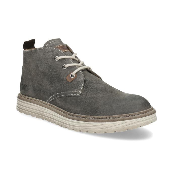 Pánska členková obuv z brúsenej kože weinbrenner, šedá, 896-2735 - 13
