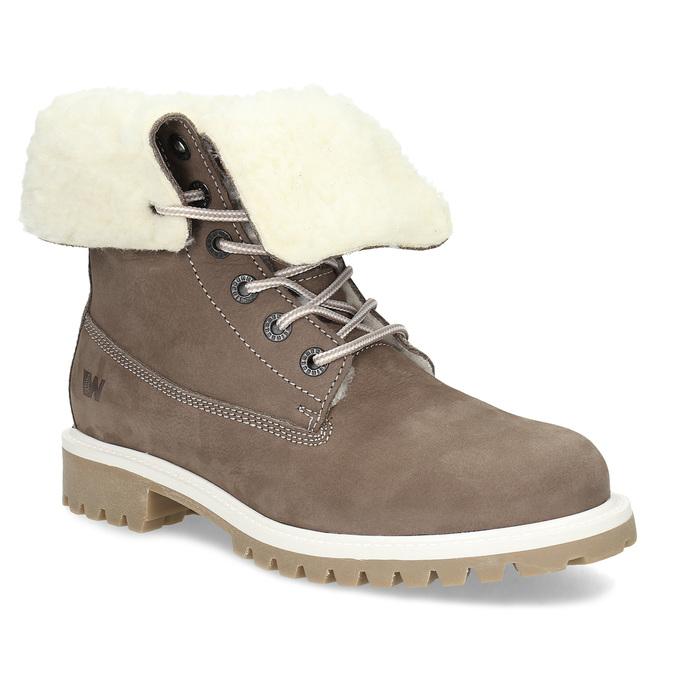 586a25f2cf9c4 Weinbrenner Hnedá dámska kožená zimná obuv - Bez podpätku | Baťa.sk