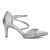 Strieborné dámske sandále na ihličkovom podpätku insolia, strieborná, 729-1634 - 19