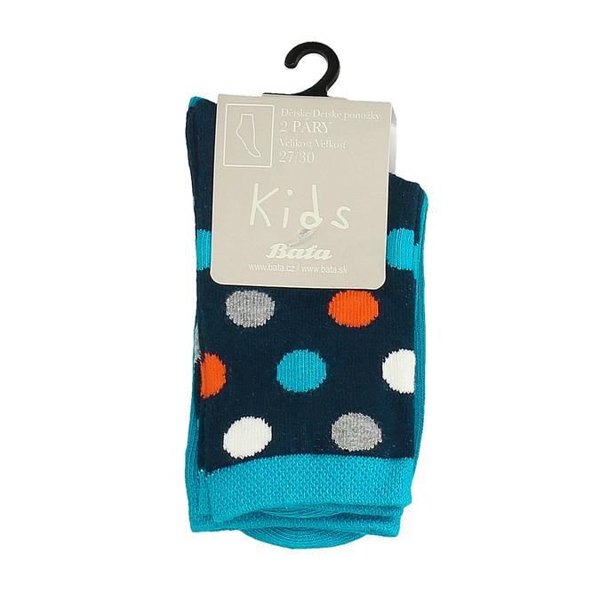 Detské modré vysoké ponožky s bodkami bata, modrá, 919-9686 - 13