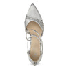 Strieborné dámske sandále na ihličkovom podpätku insolia, strieborná, 729-1634 - 17