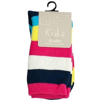 Vysoké detské pruhované ponožky bata, viacfarebné, 919-5688 - 13