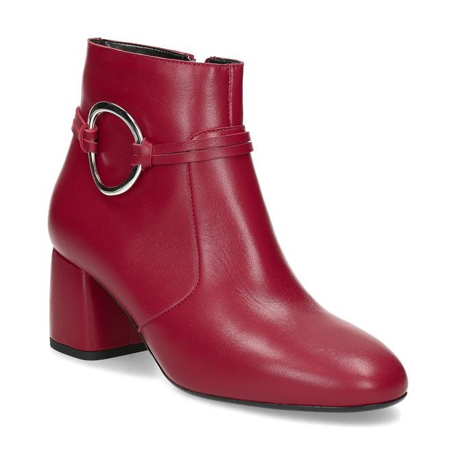 b301e37f8fa9c Červené kožené členkové čižmy s prackou bata, červená, 794-5608 - 13