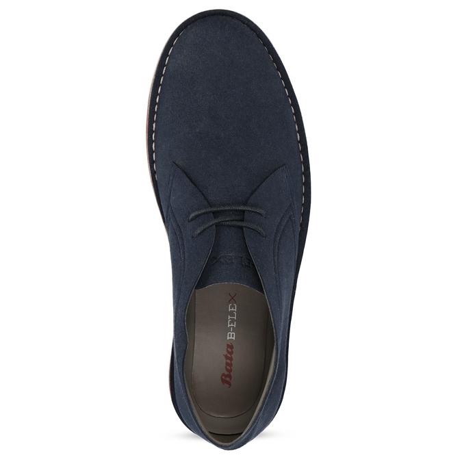 Modrá pánska ležérna členková obuv bata-b-flex, modrá, 899-9600 - 17