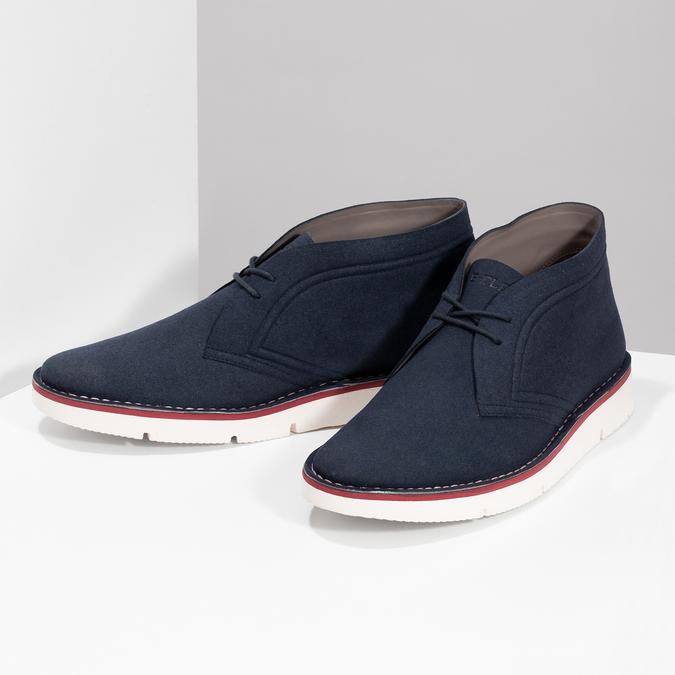 Modrá pánska ležérna členková obuv bata-b-flex, modrá, 899-9600 - 16