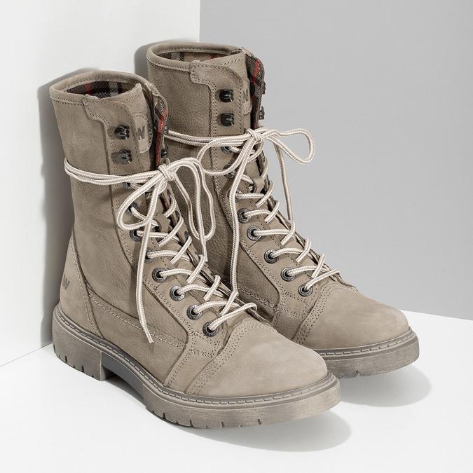 Béžová kožená dámska obuv vysoká weinbrenner, béžová, 596-8746 - 26