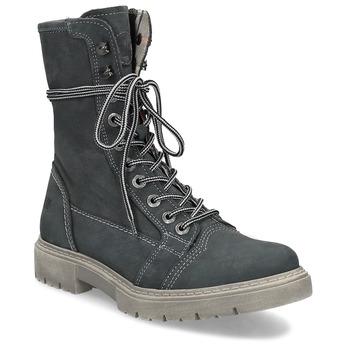 Kožená dámska vysoká obuv weinbrenner, šedá, 596-2746 - 13