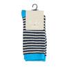 Detské pruhované ponožky bata, modrá, 919-9688 - 13