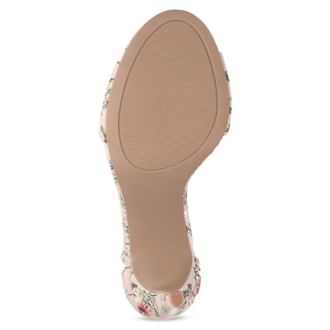 Ružové sandále na ihličkovom podpätku so vzorom bata-red-label, ružová, 761-5626 - 18