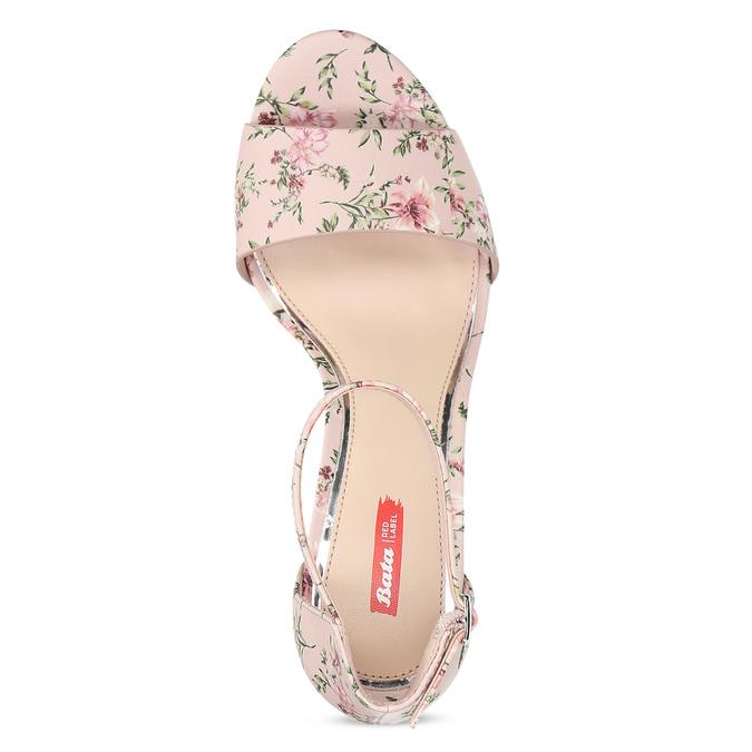 Ružové sandále na ihličkovom podpätku so vzorom bata-red-label, ružová, 761-5626 - 17