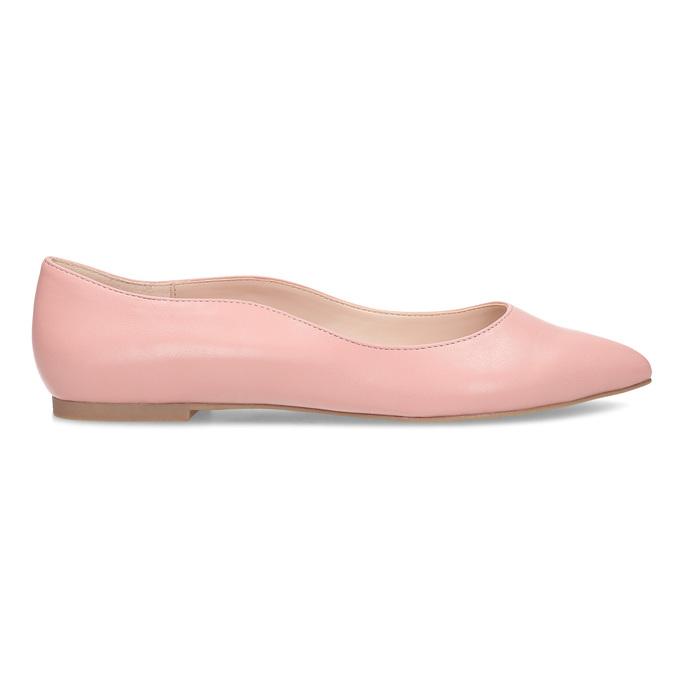 Dámske baleríny do špičky ružové bata-red-label, ružová, 521-5644 - 19