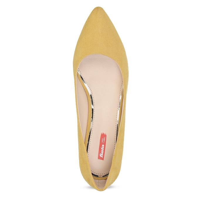 Žlté dámske lodičky na stabilnom podpätku bata-red-label, žltá, 629-8655 - 17