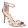 Ružové sandále na ihličkovom podpätku so vzorom bata-red-label, ružová, 761-5626 - 13