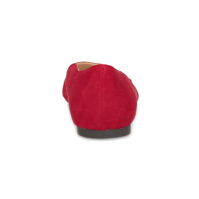 Červené dámske baleríny bata-red-label, červená, 529-5644 - 15