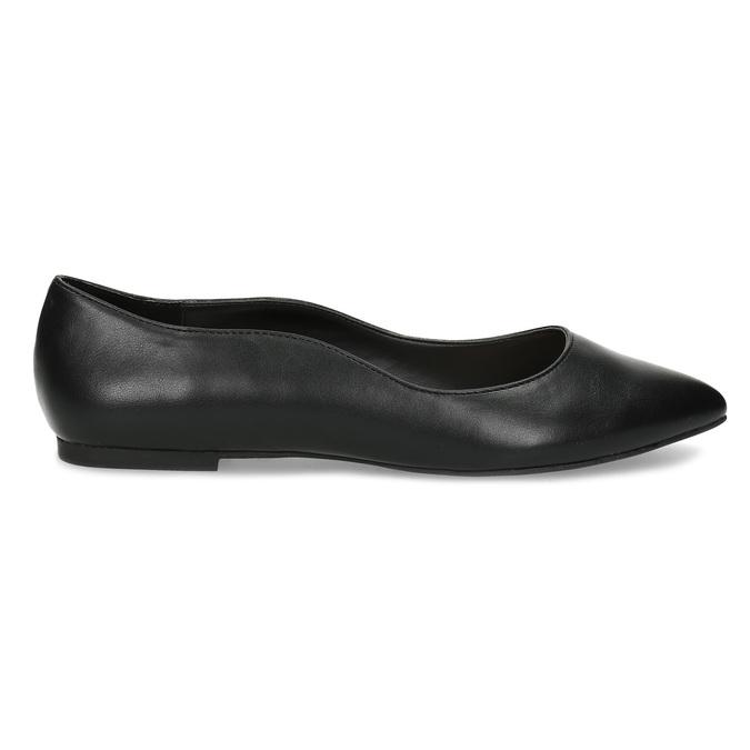 Čierne baleríny do špičky bata-red-label, čierna, 521-6644 - 19