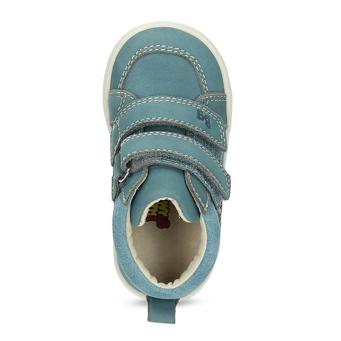 Detské modré tenisky z brúsenej kože bubblegummers, modrá, 116-9634 - 17